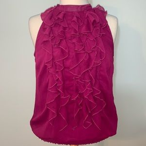 Mossimo pink vertical ruffle front top